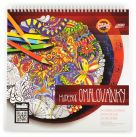 musical colouring book with coloured pencils CZ