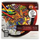 musical colouring book with coloured pencils GB