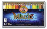 set of jumbo triangular coloured MAGIC pencils 3408 23+1 FSC 100%