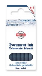fountain pen ink document refill blue