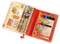 set of memory diary and artists´ coloured pencils 3832 12
