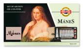 oil colours in box MANES